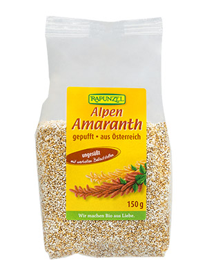 Amaranth gepufft