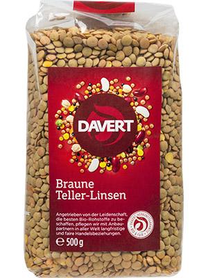 Braune Teller-Linsen
