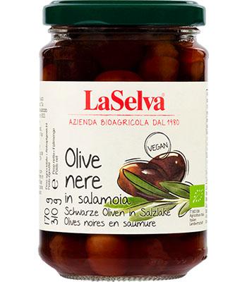 Dunkle Oliven mit Stein